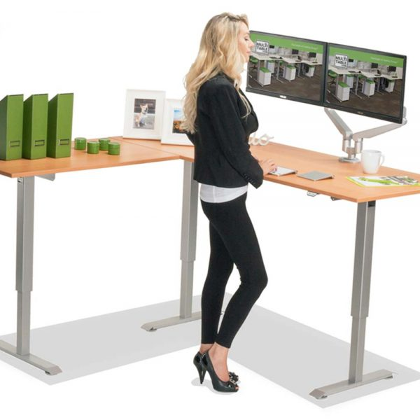 L Shaped Standing Desk Natural Pear L 1 Multitable