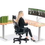 L Shaped Standing Desk Natural Pear L 2 Multitable