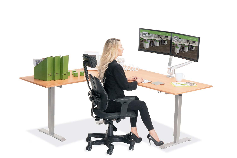 L Shaped Standing Desk Natural Pear L 2 Multitable