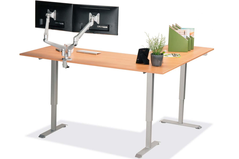 L Shaped Standing Desk Natural Pear L 3 Multitable