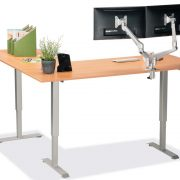 L Shaped Standing Desk Natural Pear R 3 Multitable