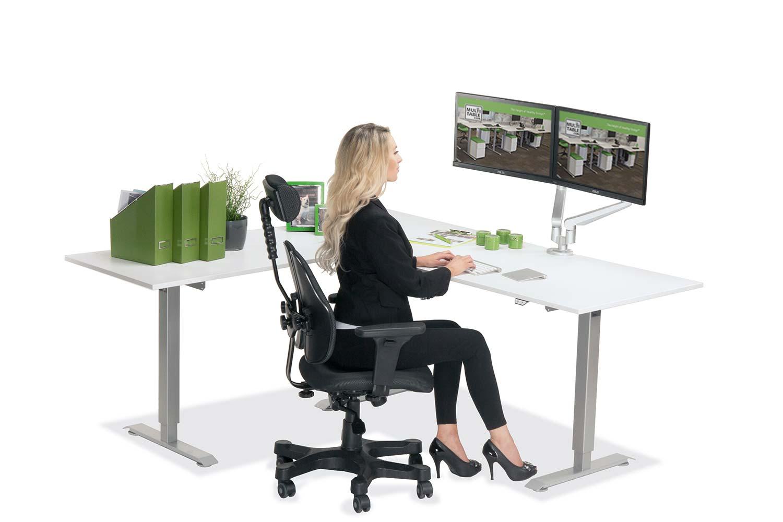L Shaped Standing Desk White L 2 Multitable