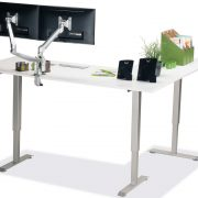 L Shaped Standing Desk White L 3 Multitable