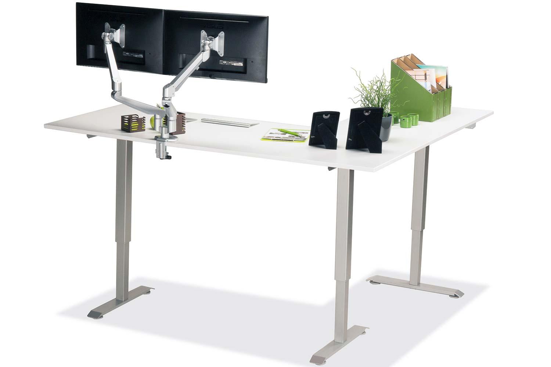 L Shaped Standing Desk White L 3 Multitable