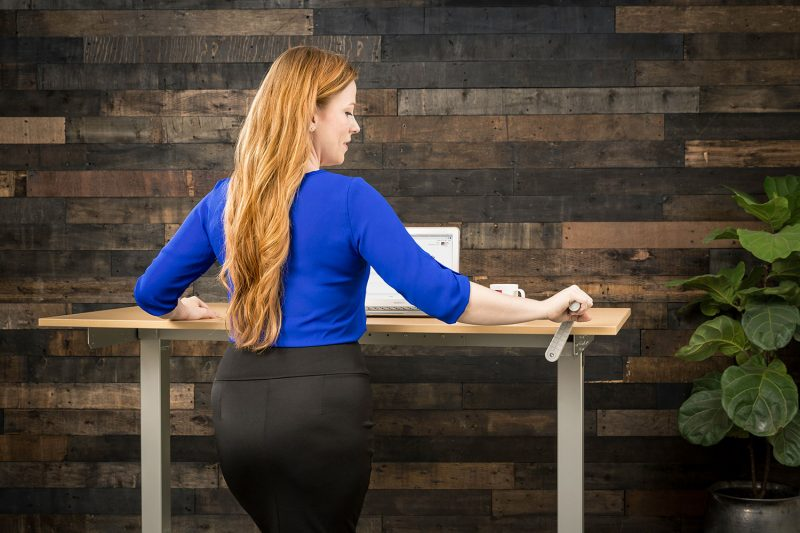 Manual Hand Crank Height Adjustable Standing Desk MultiTable