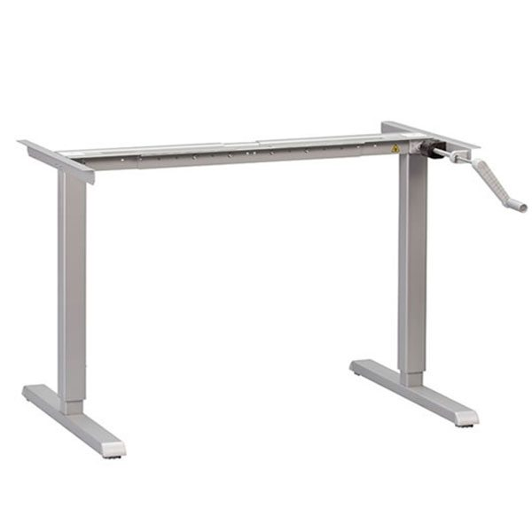 MultiTable Manual Standing Desk Base Silver
