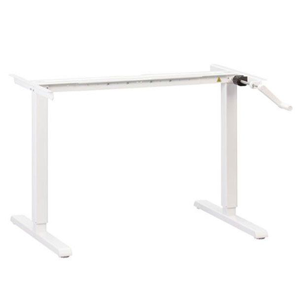 MultiTable Manual Standing Desk Base White