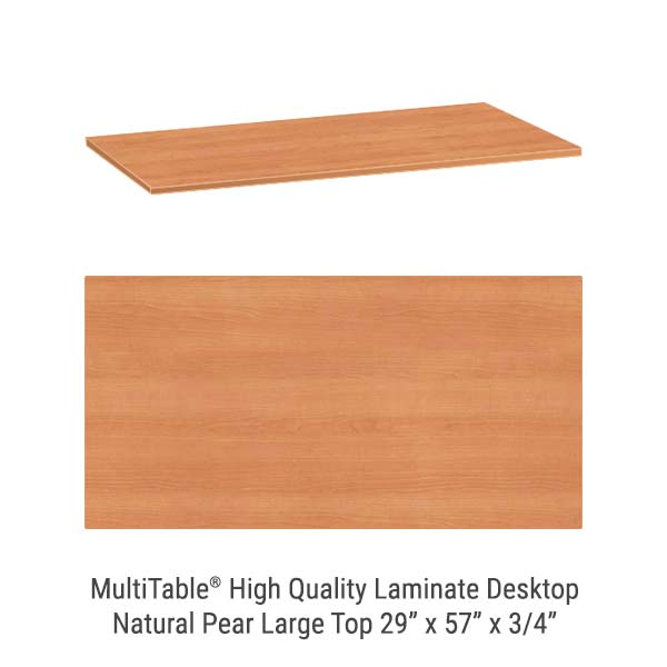 Natural Pear Large Standing Desk Top