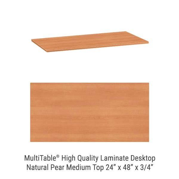 Natural Pear Medium Standing Desk Top