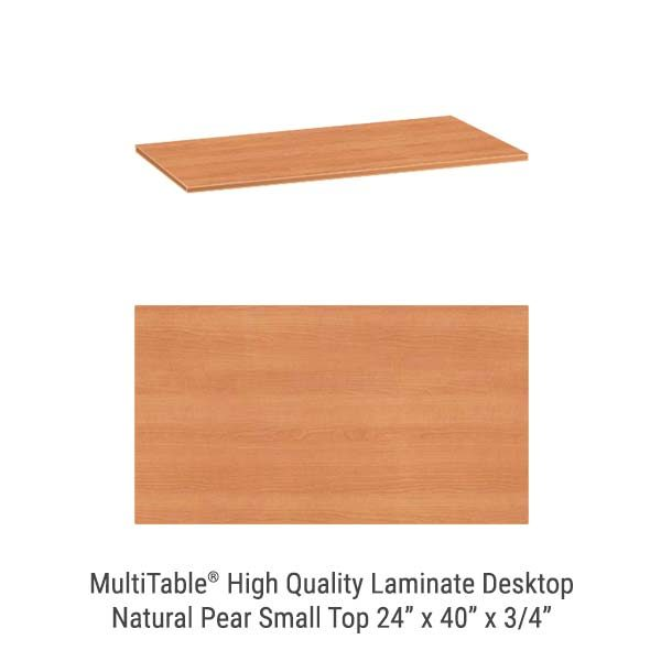 Natural Pear Small Standing Desk Top
