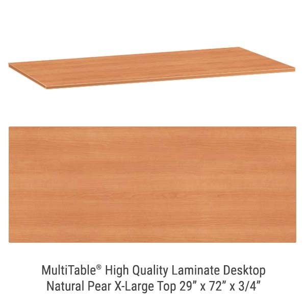 Natural Pear X Large Standing Desk Top