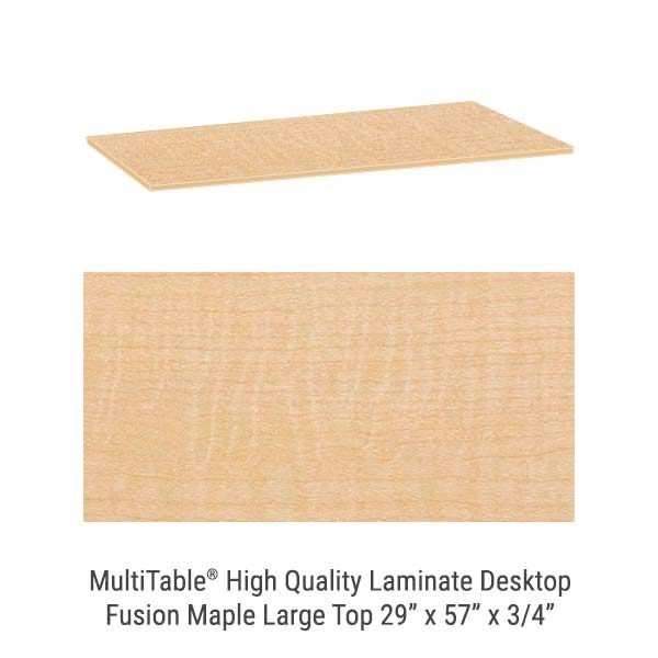 Fusion Maple Large Standing Desk Top