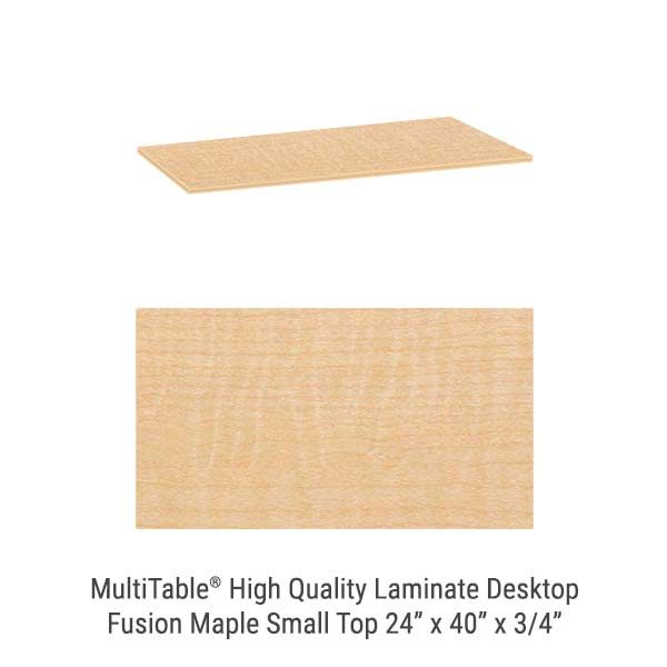 Fusion Maple Small Standing Desk Top
