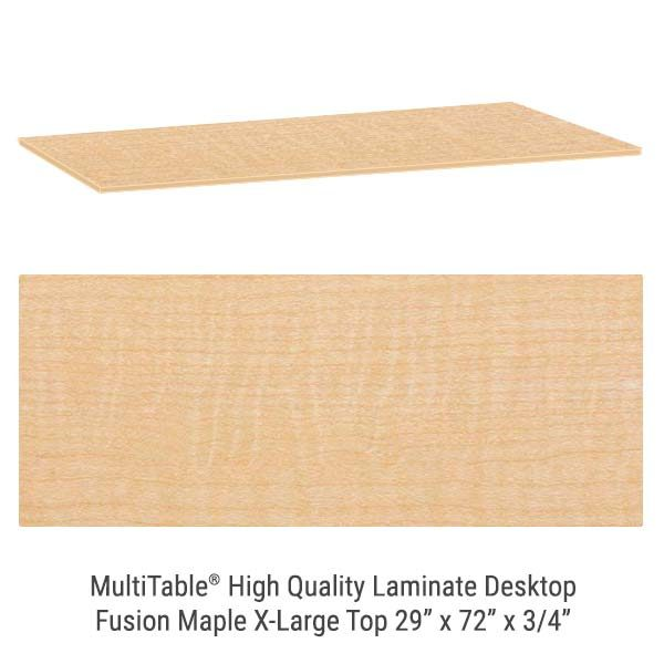 Fusion Maple X Large Standing Desk Top