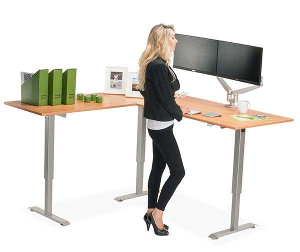 The Best L Shaped Adjustable Standing Desk Multitable