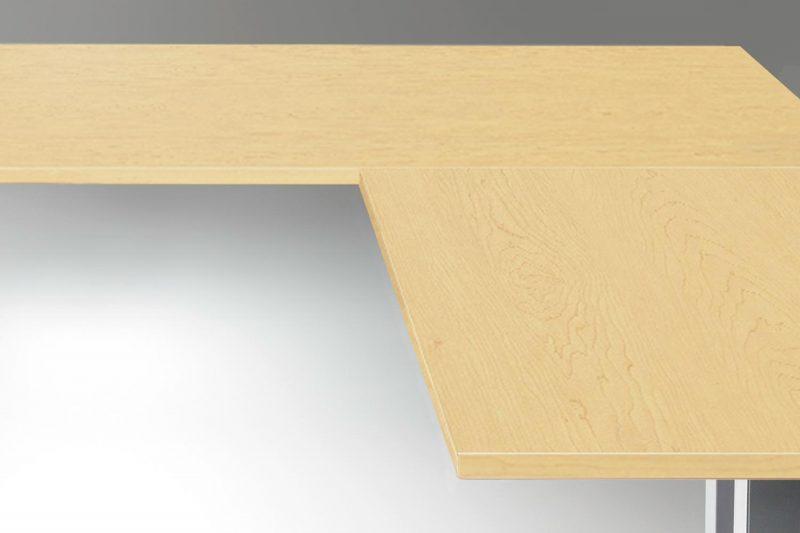 Standing Desk Table Top Hardrock Maple L Shaped
