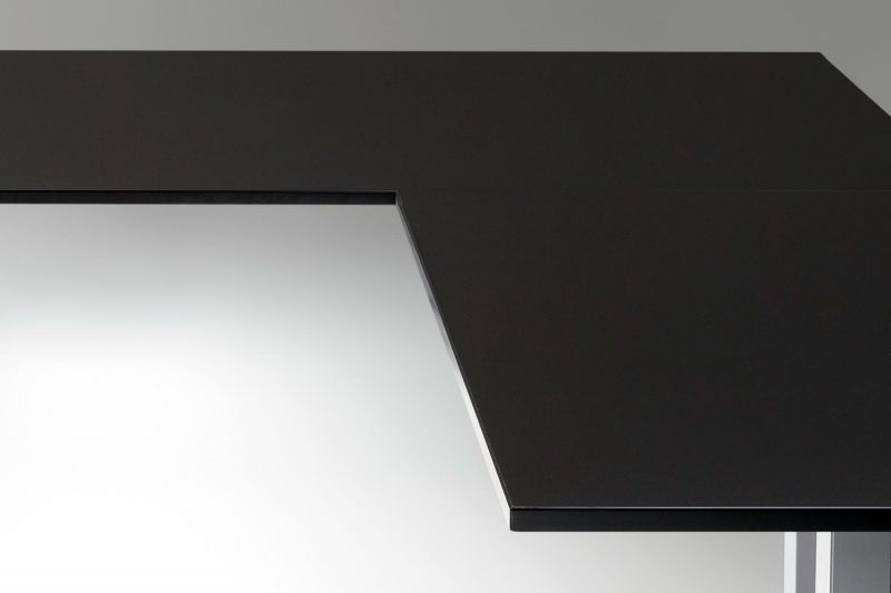 Standing Desk Top Black L Shaped