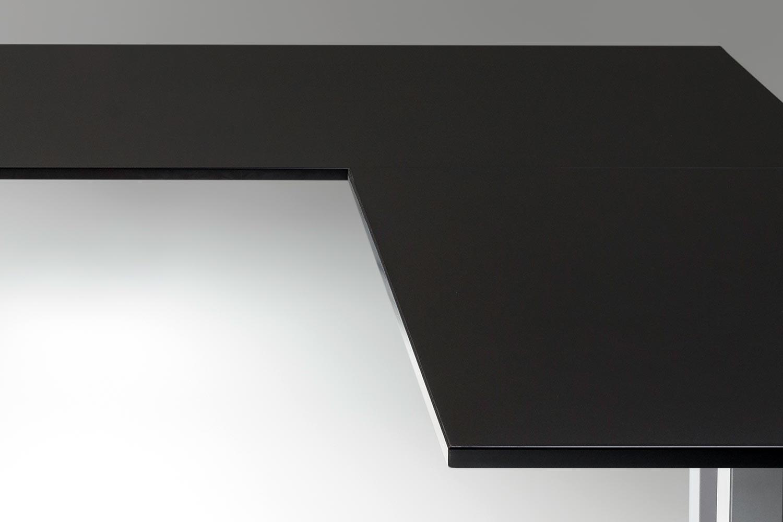 Standing Desk Top Black L Shaped