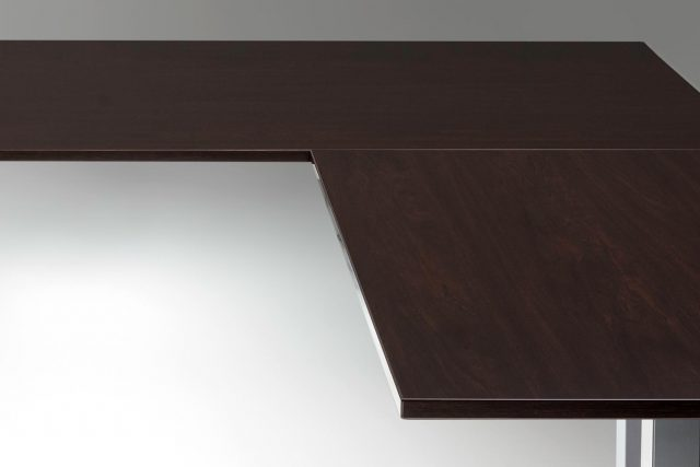Standing Desk Top Espresso L Shaped