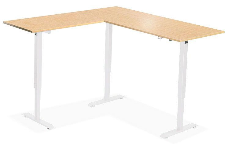 L Shaped Height Adjustable Standing Desk