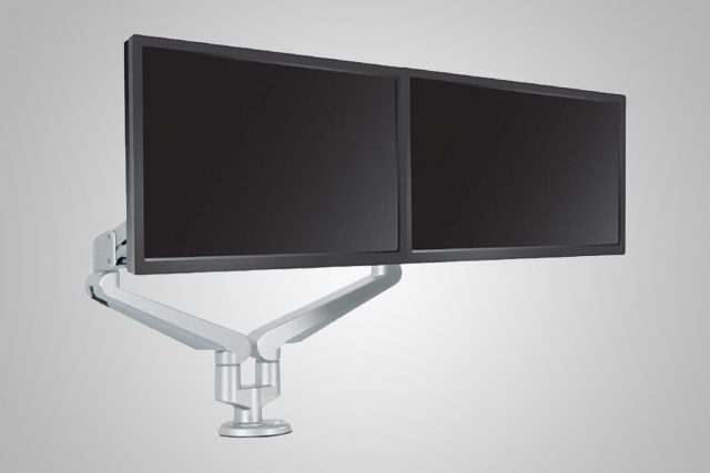 Dual Monitor Arms Silver MultiTable