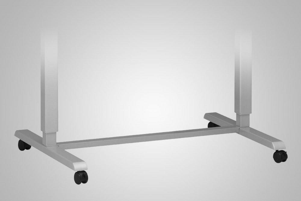 Hand Crank Standing Desk Wheel Kit Silver MultiTable