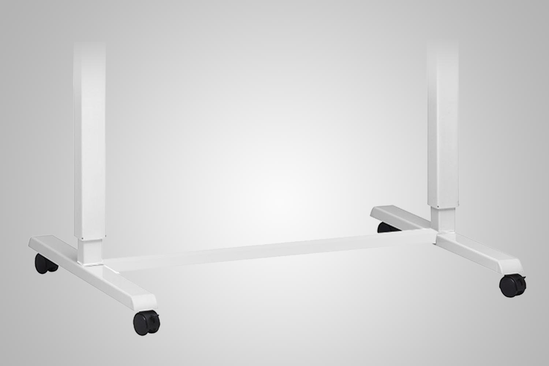 Hand Crank Standing Desk Wheel Kit White Multitable