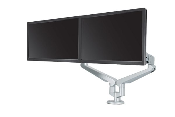 Monitor Arm Dual Silver MultiTable