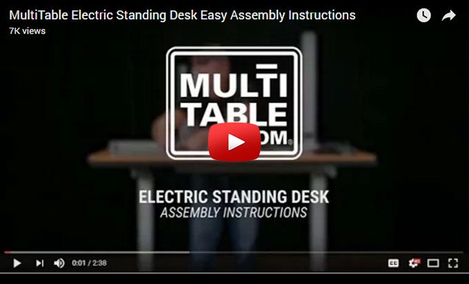 Standing Desk Assembly Video MultiTable