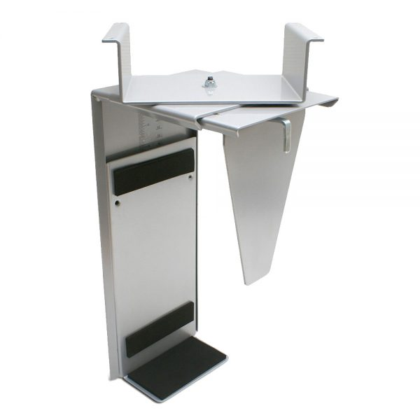 Swivel CPU Holder Height Adjustable Standing Desk Accessory