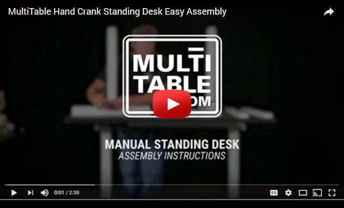 Hand Crank Standing Desk Assembly MultiTable
