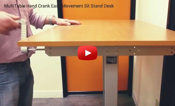 Hand Crank Standing Desk MultiTable