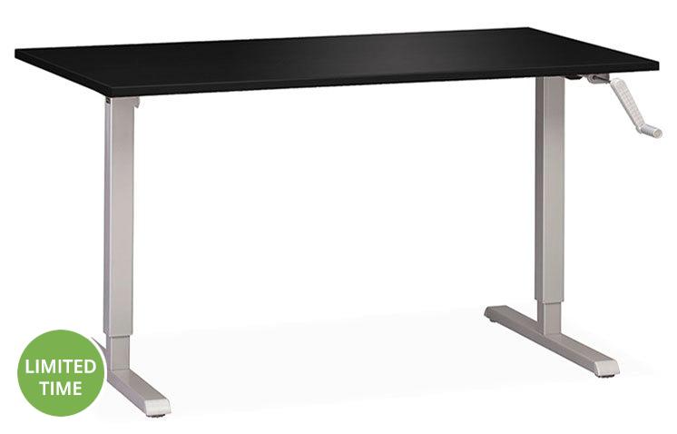 Height Adjustable Hand Crank Standing Desk Sale