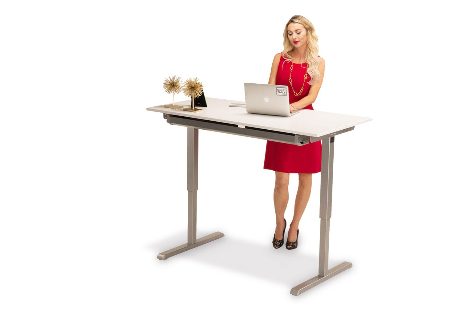 white adjustable desk hand desktop height product with standing multitable large crank