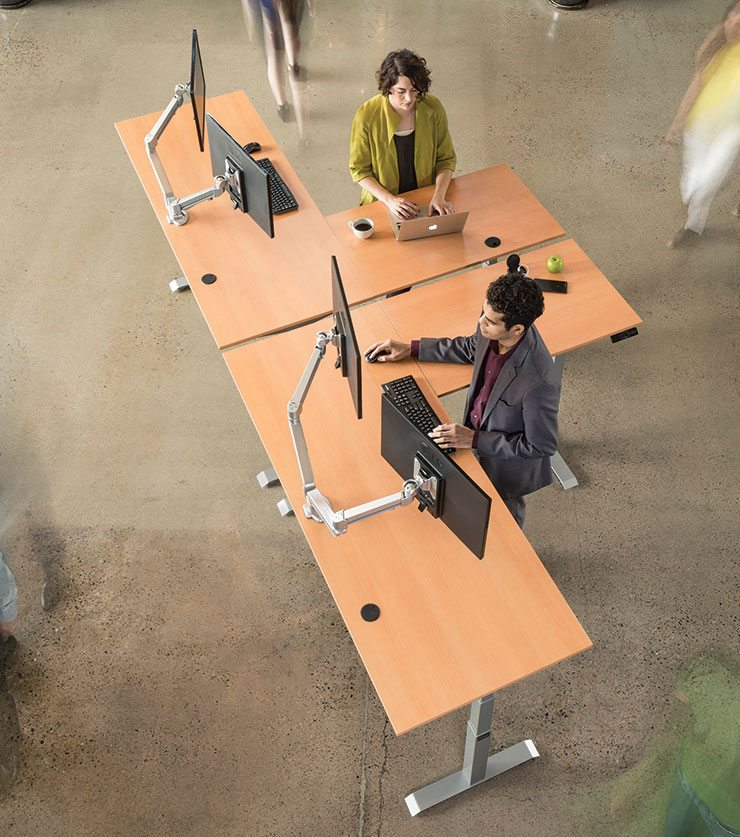 Adjustable Height Standing Desk Laminate Tops By MultiTable