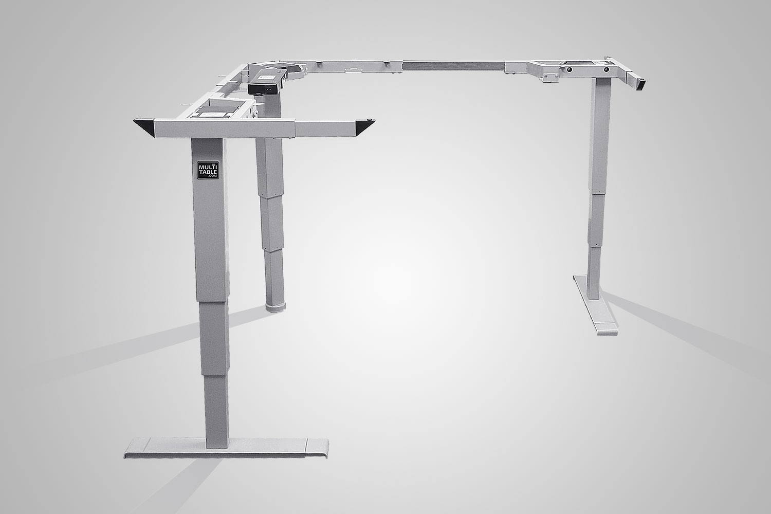 Multitable L Shaped Height Adjule Standing Desk Frame
