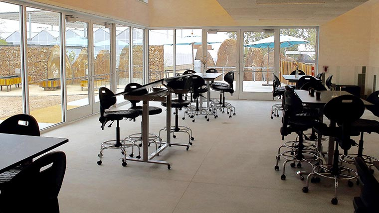 MultiTable Customizes Standing Tables For New Desert Botanical Garden Learning Center
