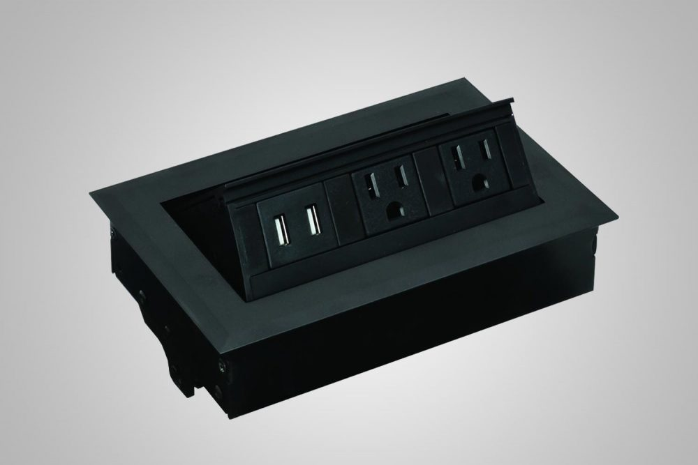 Desk Top Power Supply And Grommet Hole Black MultiTable Standing Desk Ergonomic Accessories
