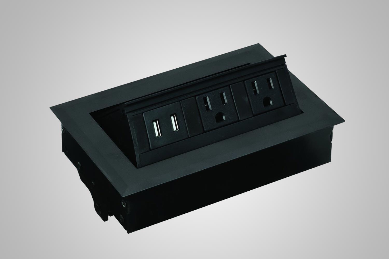 Desk Top Power Supply And Grommet Hole Black Multitable Standing Ergonomic Accessories