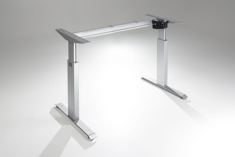FlexTable Height Adjustable Standing Desk Frame Silver