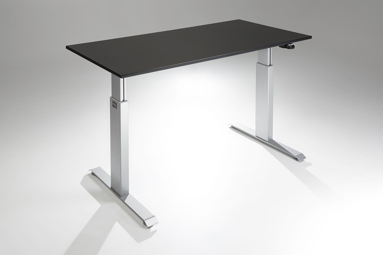 FlexTable Height Adjustable Standing Desk Silver Black A MultiTable
