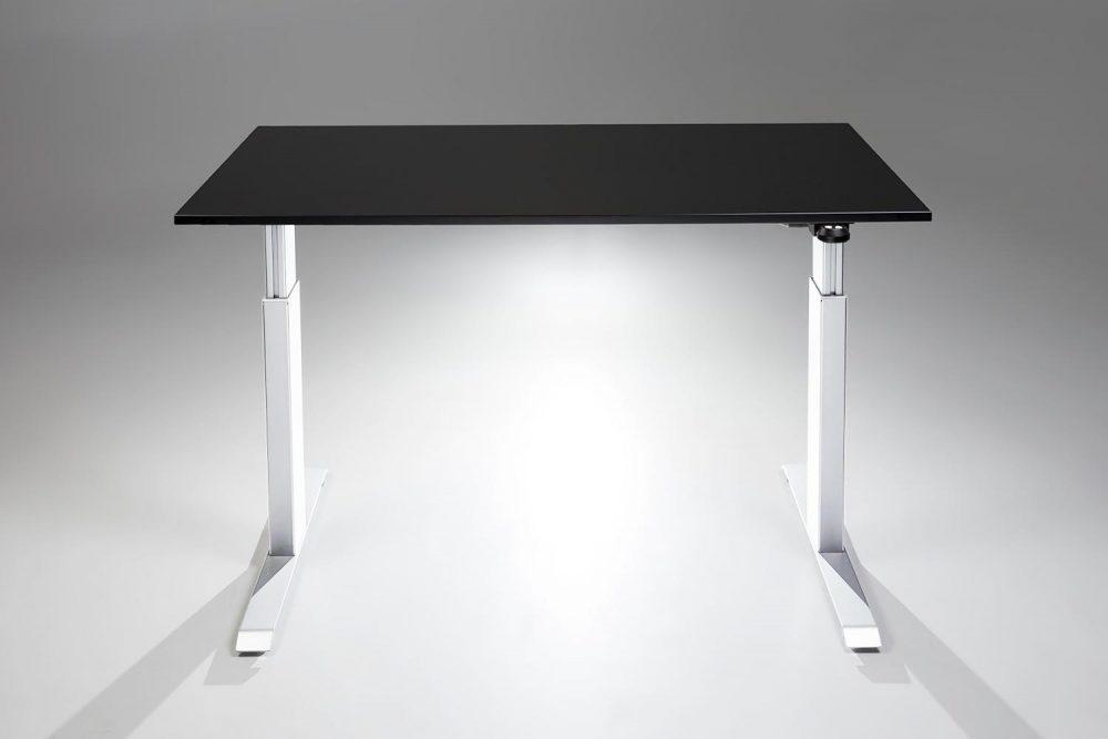 FlexTable Height Adjustable Standing Desk White Black MultiTable