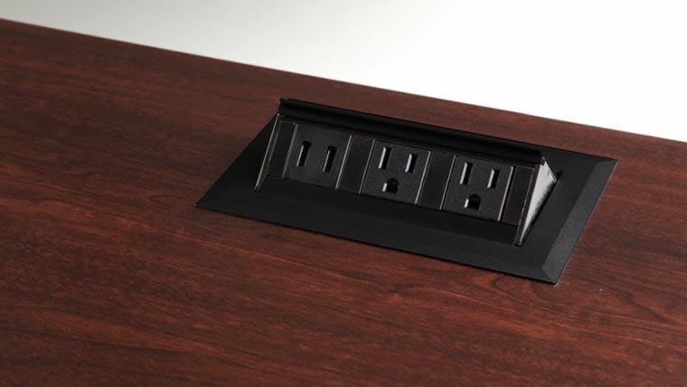 Pop Up Power Supply Silver MultiTable Standing Desk Ergonomic Accessories