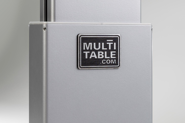 Sit Stand Adjustable Height Desk Silver FlexTable
