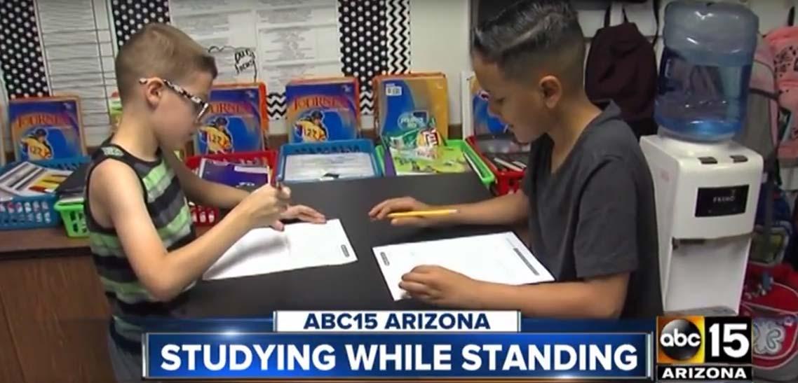 MultiTable Standing Desks Help Students In The Classroom
