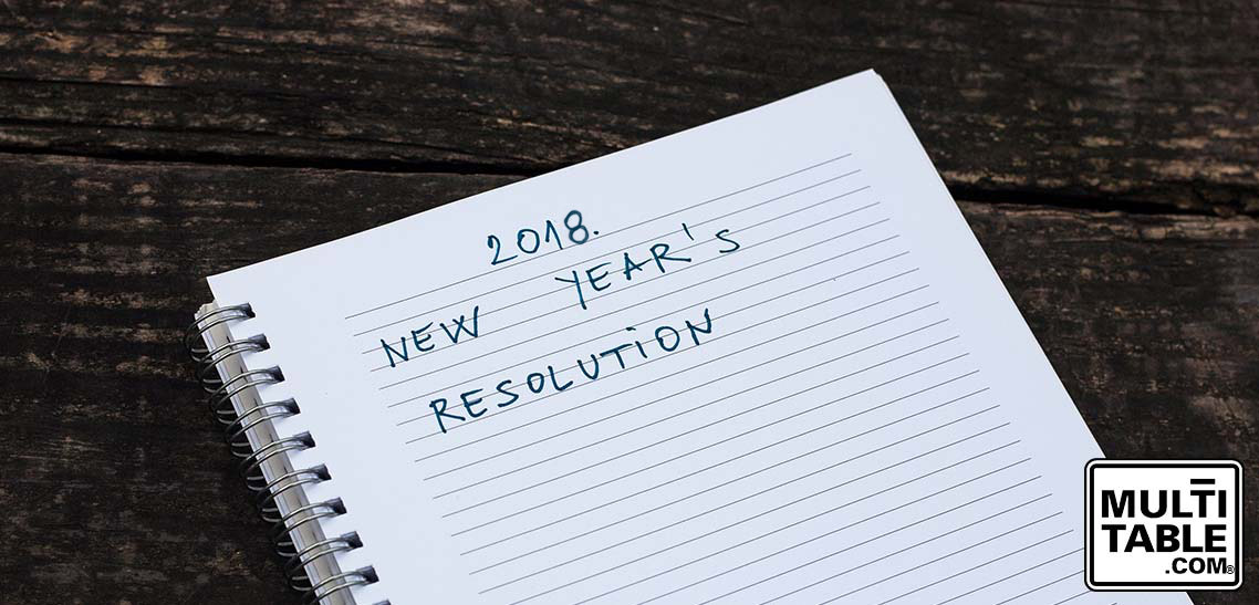 Keep Your Resolutions 2018 MultiTable Height Adjustable Standing Desk