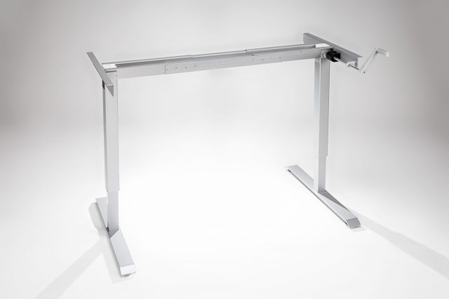 Original ModTable Hand Crank Standing Desk Silver Frame By MultiTable