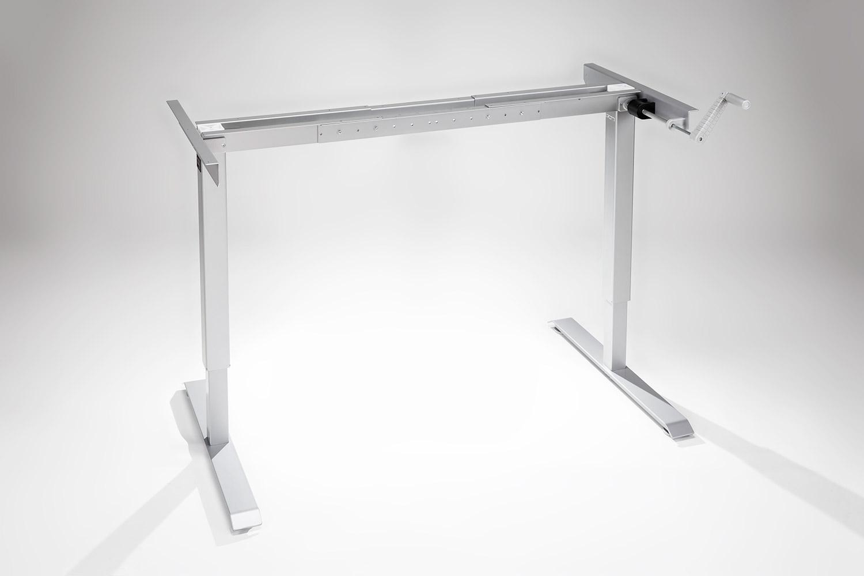 Original Modtable Hand Crank Standing Desk Silver Frame By Multitable