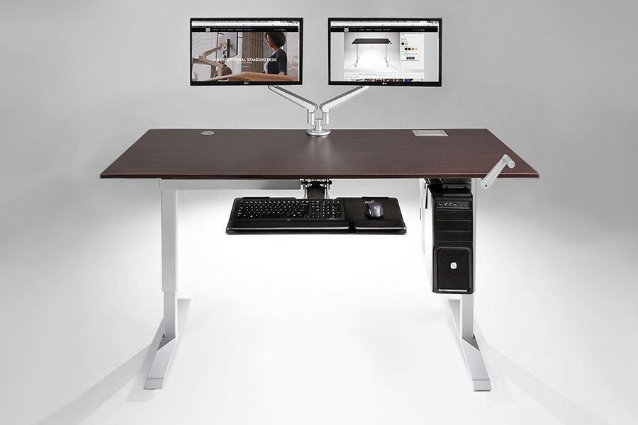 Hand Crank Height Adjustable Height Sit to Standing Desk