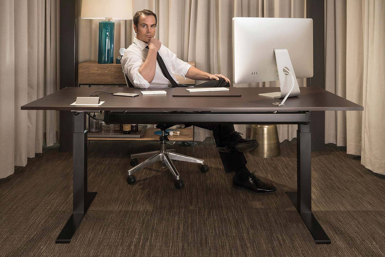 MultiTable Mod-E2 Electric Height Adjustable Table Standing Office Desk